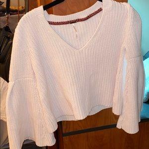 White Free People sweater